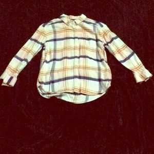 Plaid Old navy girls  long sleeve button down